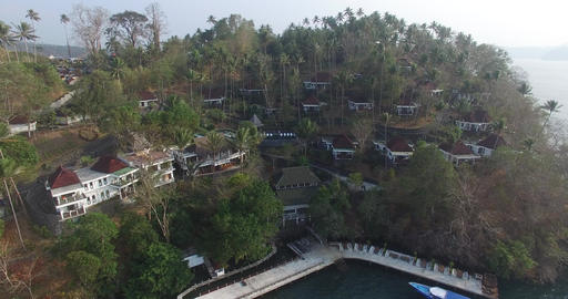 Aerial of tropical bay Footage