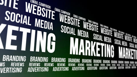 Business Marketing Words Scrolling Animation