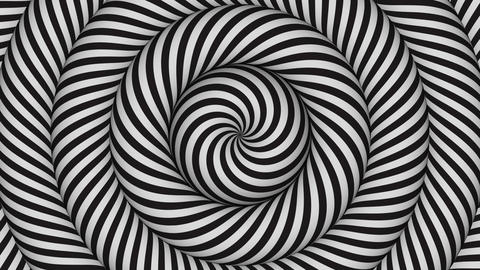 hypnotic background with black and white concentric circles in motion Animation