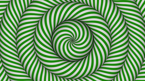 hypnotic background with green and white concentric circles in motion Animation