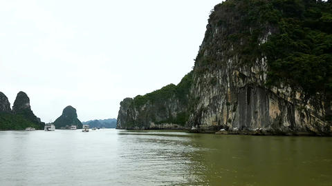 Vietnam Ha Long bay sea day view Filmmaterial