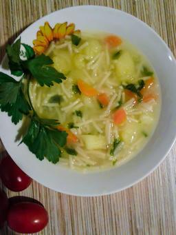 Autumn chicken soup フォト