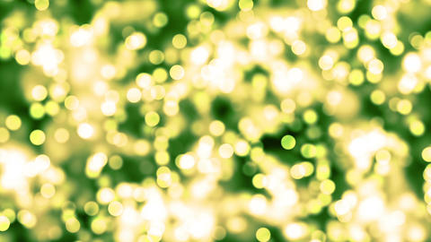 HD Loopable Background with nice green glowing bokeh CG動画素材
