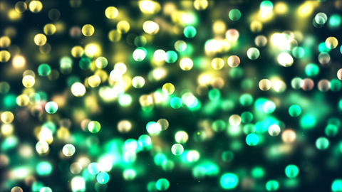 HD Loopable Background with nice glowing green bokeh Animation