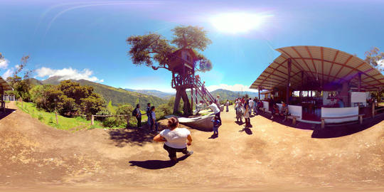 360Vr Banos De Agua Santa Swing At The End Of The World 360 Vr Spherical Video Footage