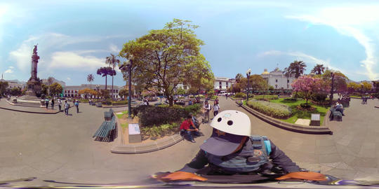 360Vr View Of Plaza Grande From A Police Segway Footage