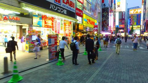Station front of Akihabara Tokyo Japan ビデオ