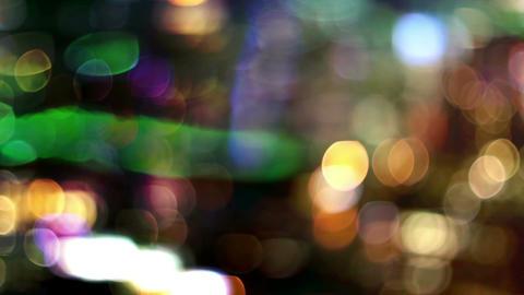 Blurry city lights Footage