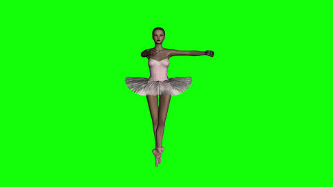 ballerina, animation, hromakey,green screen,3d ,isolated Animation