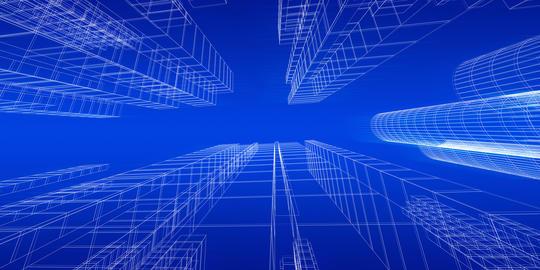 City concept 3d rendering フォト