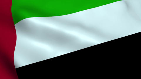 Realistic United Arab Emirates flag Animation