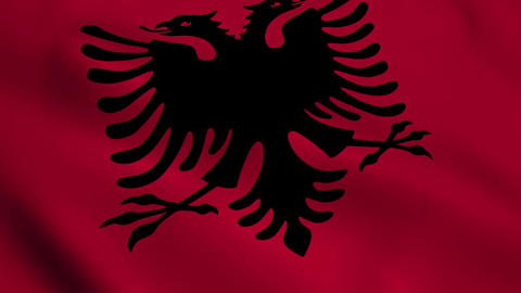 Realistic Albania flag Animation