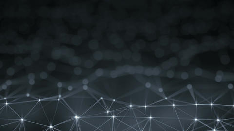 Futuristic network shape abstract loopable animation with DOF Animation