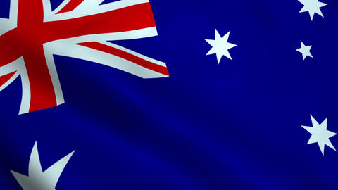 Realistic Australia flag Animation