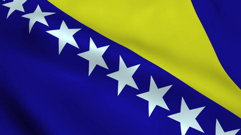 Realistic Bosnia and Herzegovina flag Animation