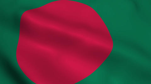 Realistic Bangladesh flag Animation