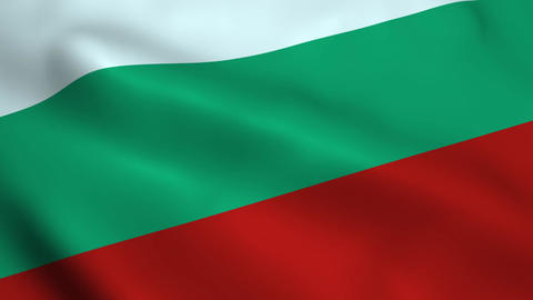 Realistic Bulgaria flag Animation