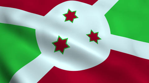 Realistic Burundi flag Animation
