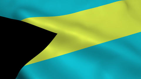 Realistic Bahamas flag Animation