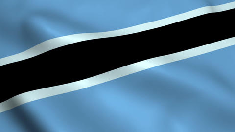Realistic Botswana flag Animation