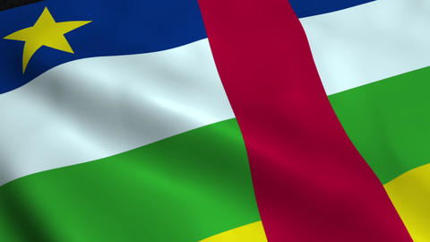 Realistic Central African Republic flag Animation