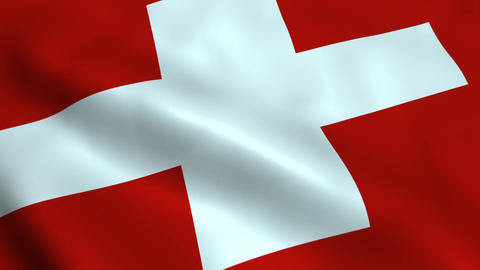 Realistic Switzerland flag Animation