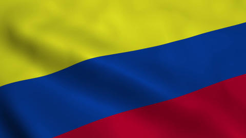 Realistic Colombia flag Animation