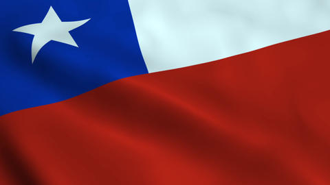 Realistic Chile flag Animation