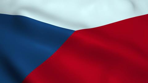 Realistic Czech Republic flag Animation