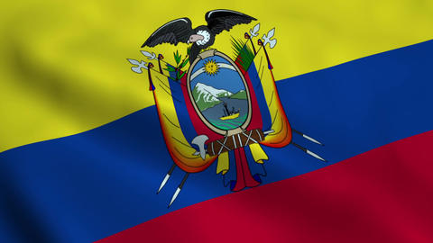 Realistic Ecuador flag Animation