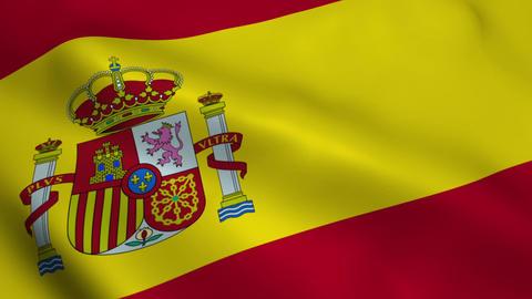 Realistic Spain flag Animation