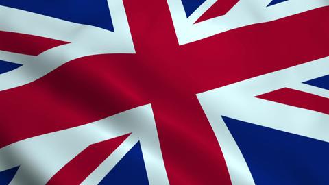 Realistic United Kingdom flag Animation