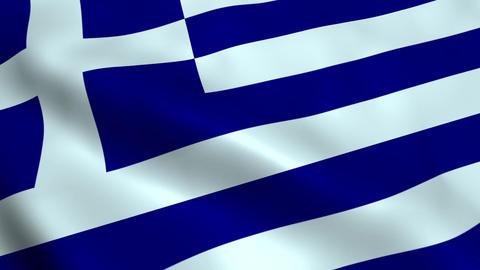 Realistic Greece flag Animation