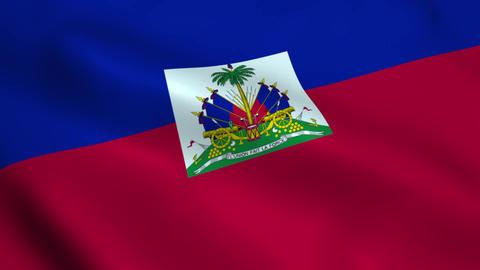 Realistic Haiti flag Animation