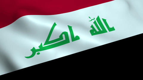 Realistic Iraq flag Animation