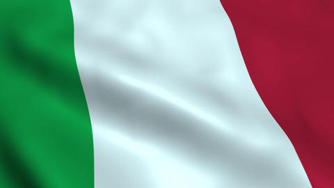 Realistic Italy flag Animation