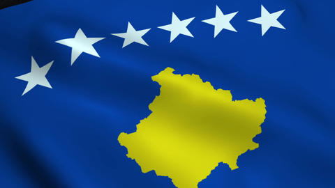 Realistic Kosovo flag Animation