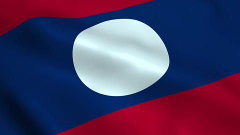 Realistic Laos flag Animation