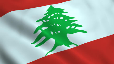 Realistic Lebanon flag Animation