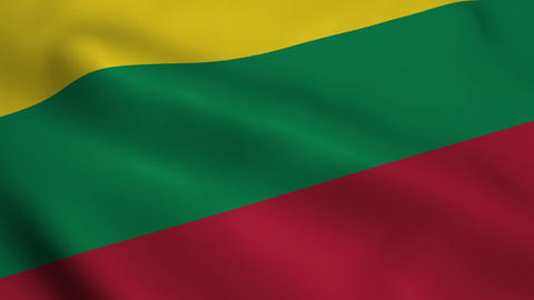 Realistic Lithuanian flag Animation