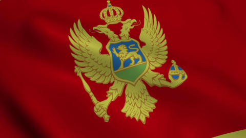 Realistic Montenegro flag Animation