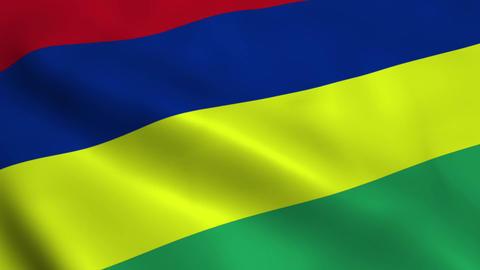 Realistic Mauritius flag Animation