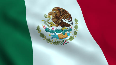 Realistic Mexican flag Animation