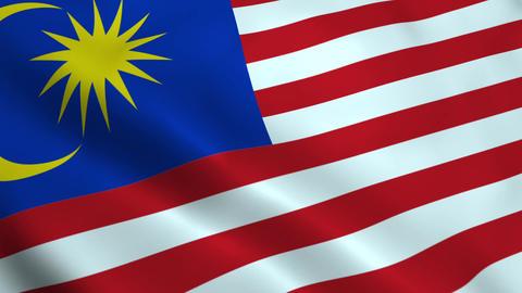 Realistic Malaysia flag Animation