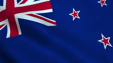Realistic New Zealand flag Animation