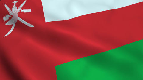 Realistic Oman flag Animation