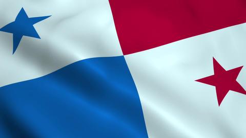 Realistic Panama flag Animation