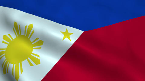 Realistic Philippines flag Animation