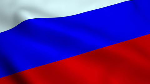 Realistic Russian flag Animation