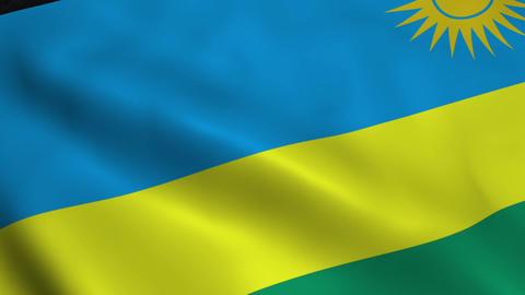 Realistic Rwanda flag Animation